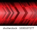 abstract red arrow futuristic... | Shutterstock .eps vector #1030107277