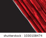abstract red polygon futuristic ... | Shutterstock .eps vector #1030108474