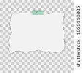 blank squared notepad pages and ... | Shutterstock .eps vector #1030110805