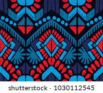 ikat geometric folklore... | Shutterstock .eps vector #1030112545