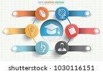 education info graphic design | Shutterstock .eps vector #1030116151