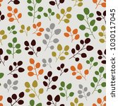 seamless pattern with leaf.... | Shutterstock .eps vector #1030117045