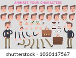 flat vector guy character for... | Shutterstock .eps vector #1030117567