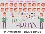 flat vector guy character for...   Shutterstock .eps vector #1030118491