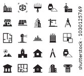solid black vector icon set  ... | Shutterstock .eps vector #1030125769