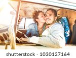 hipster couple ready for...   Shutterstock . vector #1030127164