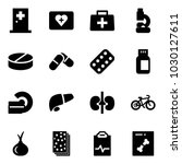 solid vector icon set   first... | Shutterstock .eps vector #1030127611
