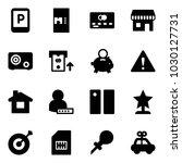 solid vector icon set   parking ... | Shutterstock .eps vector #1030127731