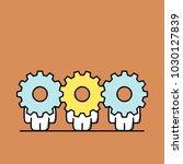 funny cute men with gear wheels ...   Shutterstock .eps vector #1030127839