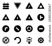 solid vector icon set   sign... | Shutterstock .eps vector #1030128367