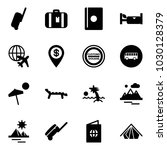 solid vector icon set  ... | Shutterstock .eps vector #1030128379