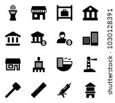 solid vector icon set   airport ...