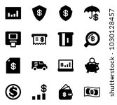 solid vector icon set  ... | Shutterstock .eps vector #1030128457