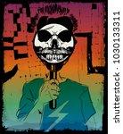 skull tee poster | Shutterstock .eps vector #1030133311