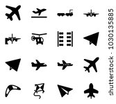 solid vector icon set   plane... | Shutterstock .eps vector #1030135885