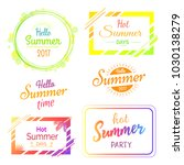 hello hot summer days and... | Shutterstock . vector #1030138279