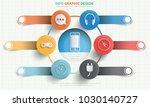 media info graphic design | Shutterstock .eps vector #1030140727