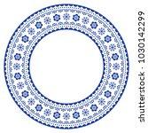 scandinavian round ornamental... | Shutterstock .eps vector #1030142299