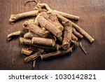 close up of ayurvedic herb... | Shutterstock . vector #1030142821