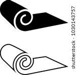 roll icon  mat  rug  carpet or... | Shutterstock .eps vector #1030143757