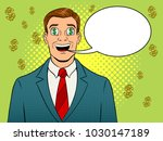 businessman with dollar sign in ...   Shutterstock . vector #1030147189
