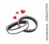 vector black wedding rings icon ... | Shutterstock .eps vector #1030147924