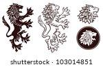 heraldic lion silhouettes 2