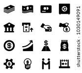 solid vector icon set   dollar...   Shutterstock .eps vector #1030149091