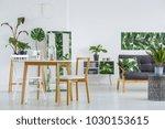 white  modern dining room... | Shutterstock . vector #1030153615