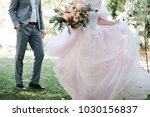 the bride and groom in the...   Shutterstock . vector #1030156837