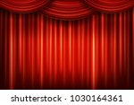red theater curtain. vector... | Shutterstock .eps vector #1030164361