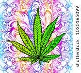 cannabis leaf  marijuana  herb  ...   Shutterstock .eps vector #1030165099