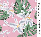 seamless floral pattern of... | Shutterstock .eps vector #1030165531
