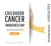 banner for childhood cancer... | Shutterstock .eps vector #1030167025