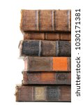 old books isolated on white. | Shutterstock . vector #1030171381