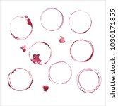 vector wine glass stain circle... | Shutterstock .eps vector #1030171855
