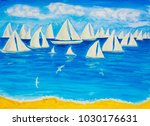sailing regatta white 4 | Shutterstock . vector #1030176631