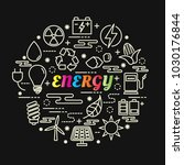 energy colorful gradient with... | Shutterstock .eps vector #1030176844