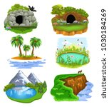 vector collection of nature... | Shutterstock .eps vector #1030184269