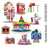 vector collection of amusement... | Shutterstock .eps vector #1030184281