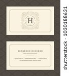 luxury business card and... | Shutterstock .eps vector #1030188631