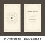 luxury business card and... | Shutterstock .eps vector #1030188655
