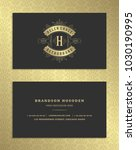 luxury business card and... | Shutterstock .eps vector #1030190995
