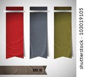 vector set of ribbons bookmarks   Shutterstock .eps vector #103019105