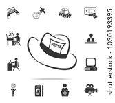 journalist press hat icon.... | Shutterstock .eps vector #1030193395