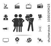 cameraman with models icon.... | Shutterstock .eps vector #1030193425