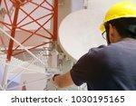 asian engineering foreman... | Shutterstock . vector #1030195165