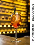 old fashioned cocktail standing ... | Shutterstock . vector #1030204801