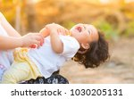 kid relaxing and happy with... | Shutterstock . vector #1030205131