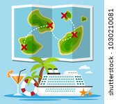 islands cruise ship  travel... | Shutterstock .eps vector #1030210081